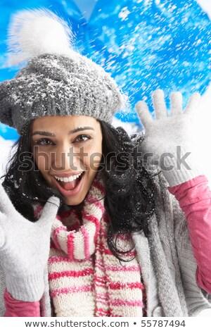 caliente · de · punto · guantes · blanco - foto stock © monkey_business
