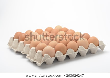brown eggs in case stock photo © natika