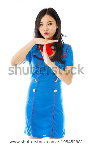 Asiático ar pare gesto Foto stock © bmonteny
