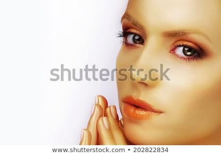 美 金箔 顔 ファッション 光 ストックフォト © gromovataya