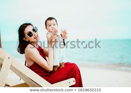 Menino mãe sessão cadeiras jogar criança Foto stock © bmonteny