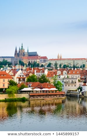 Prag · şehir · sabah · ufuk · çizgisi · görmek · kasaba - stok fotoğraf © stevanovicigor