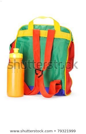 Renkli okul öncesi sırt çantası su konteyner plastik Stok fotoğraf © dezign56