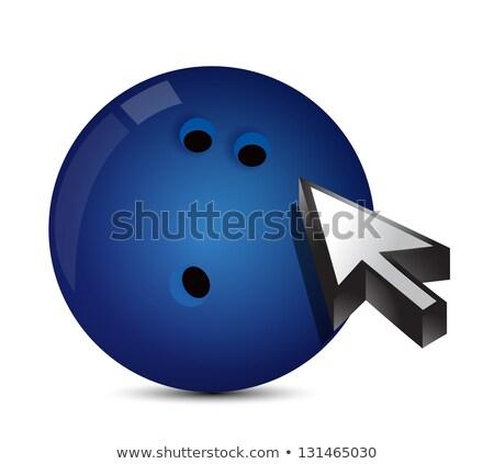 Bowling ball with cursor arrow - sport shopping  Stock photo © alexmillos