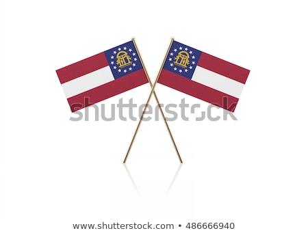 usa and georgia   miniature flags stock photo © tashatuvango