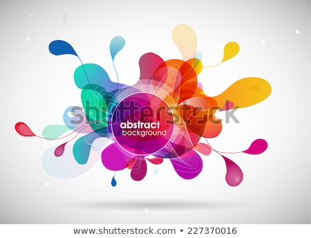 Abstract curve composition in vector Stock photo © aliaksandra