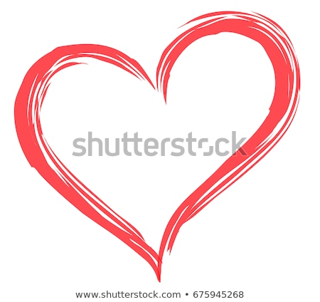 Love heart with silhouette and banner background Stock photo © elaine