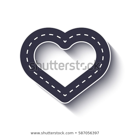 Stockfoto: Hart · weg · houten · teken · opknoping