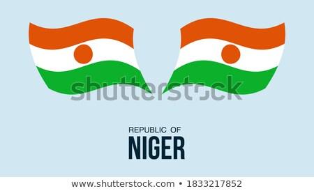 Mappa bandiera pulsante repubblica Niger vettore Foto d'archivio © Istanbul2009