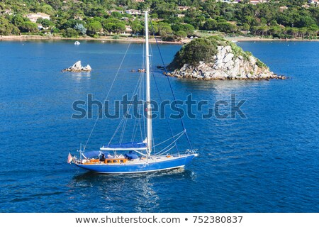Gulf and town of Porto-Vecchio in south Corsica Stock photo © Joningall