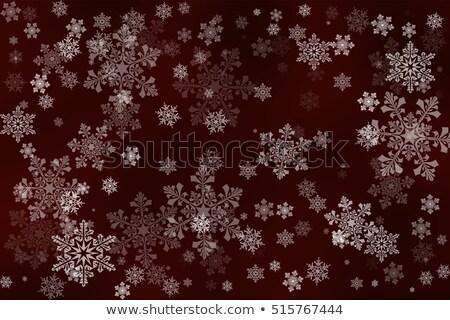 Blanche flocons de neige sombre rouge frontière Noël Photo stock © PokerMan
