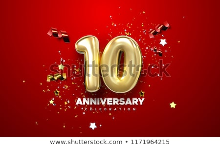 Birthday Party Celebration Background with emblem stock photo © vectorikart