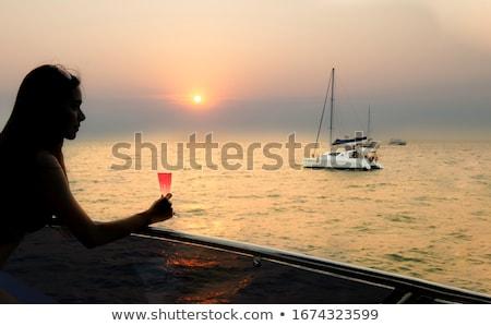 sexy woman on the yacht stock photo © annaomelchenko