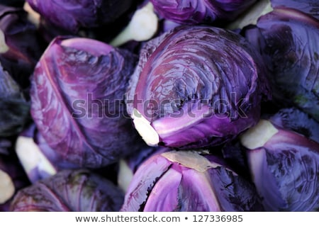 Purple cabbage in market place Stock photo © H2O