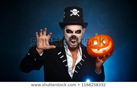 Ijesztő férfi halloween test gyógyszer éjszaka Stock fotó © Elnur