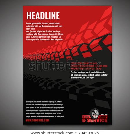 Pneu peuvent utilisé affiches brochures publicité Photo stock © m_pavlov