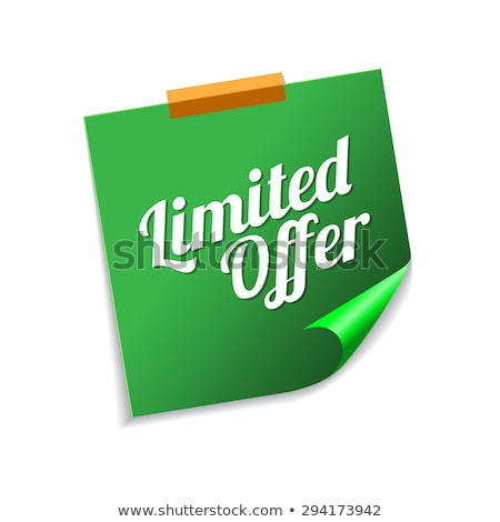 Limited Time Offer Green Sticky Notes Vector Icon Design Stock photo © rizwanali3d