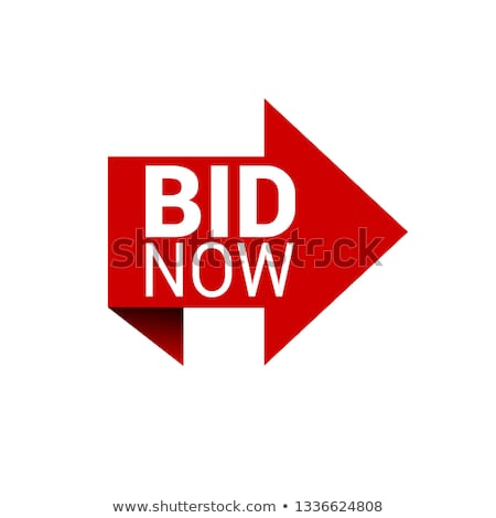Bid Now Red Vector Icon Design Stock photo © rizwanali3d