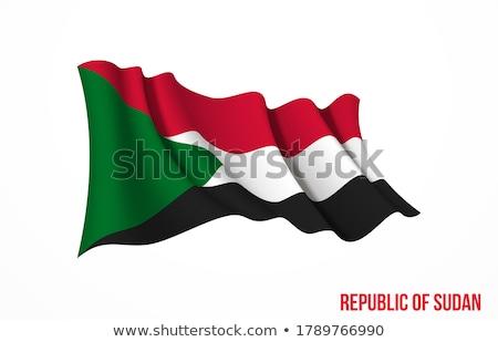 Köztársaság Szudán kicsi 3d ember tart zászló Stock fotó © Istanbul2009