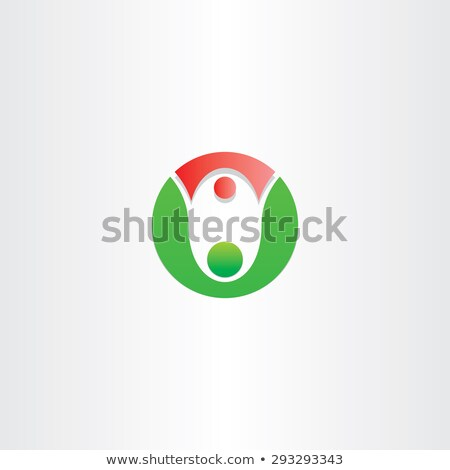 letter o people father and daughter dance icon Stock photo © blaskorizov