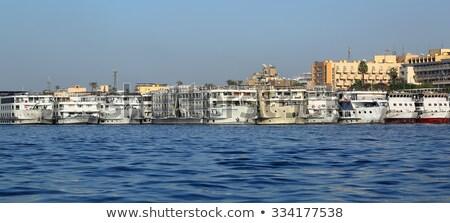 Stockfoto: Schepen · permanente · haven · oude · luxor · Blauw