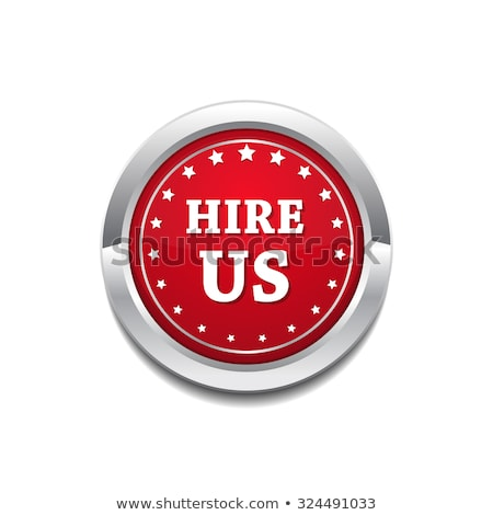 hire us glossy shiny circular vector button stock photo © rizwanali3d