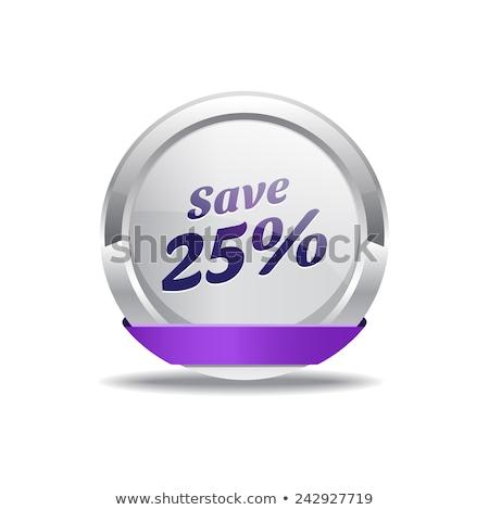 Salvar 25 por cento roxo vetor Foto stock © rizwanali3d