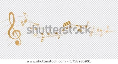 музыки отмечает вектора икона дизайна веб Сток-фото © rizwanali3d
