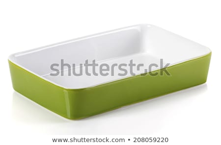 пусто · керамической · прямоугольный · блюдо · изолированный - Сток-фото © ozaiachin