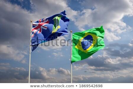 Brasil Ilhas Virgens britânico bandeiras quebra-cabeça isolado Foto stock © Istanbul2009