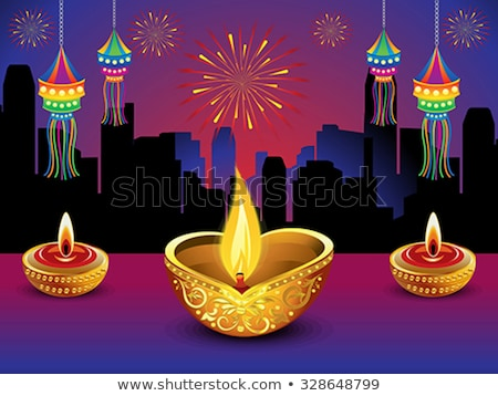 Stock photo: artistic detailed diwali night background