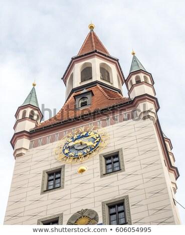old town hall altes rathaus building at marienplatz in munich stock photo © vladacanon