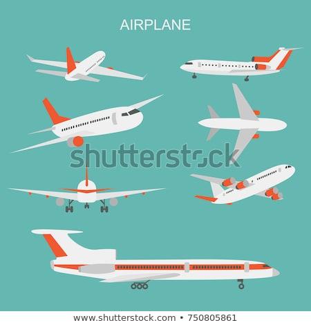modern jet airliner symbol Stock photo © tracer