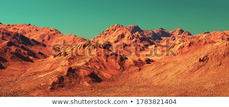 desenho · animado · vermelho · planeta · paisagem · céu · laranja - foto stock © tracer