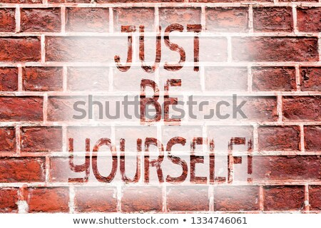 Graffiti on a brick wall - Believe in yourself Stock photo © Zerbor
