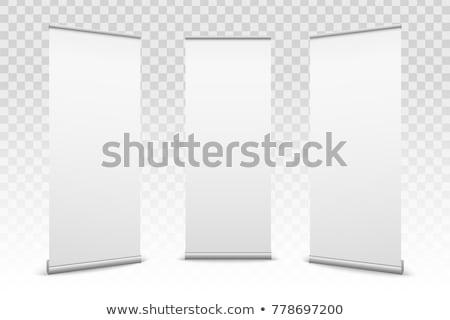 ロール · アップ · バナー · 紙 · キャンバス · テクスチャ - ストックフォト © cherezoff