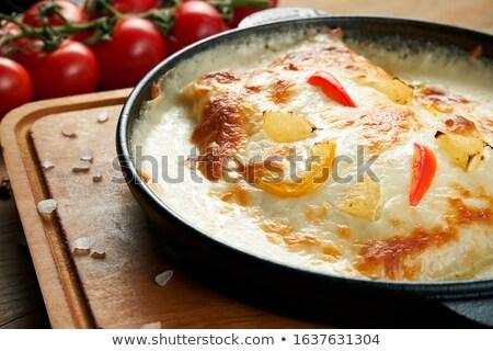 Pan fried mackerel with cream sauce Stock photo © Digifoodstock
