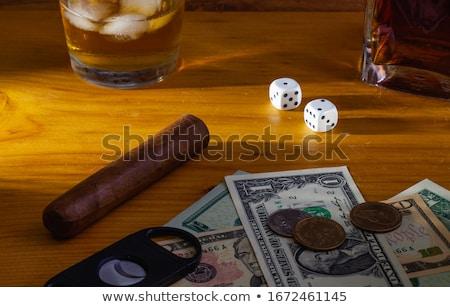 Stok fotoğraf: Us Dollar Banknotes And Cuban Cigars
