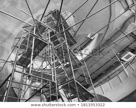 Scaffolding as safety equipment on a construction building  site Stock photo © zurijeta