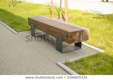 Modern wooden bench Stock photo © luissantos84