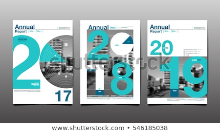 green annual report template vector illustration stock photo © ganpanjanee