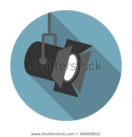 movie floodlight flat icons vector illustration Stock photo © konturvid