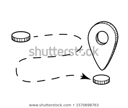 Doodle Location Pointer icon. Stock photo © pakete
