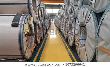 Galvanized coils in warehouse Stock photo © mady70