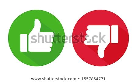 ストックフォト: 親指 · アップ · ダウン · 2 · 手
