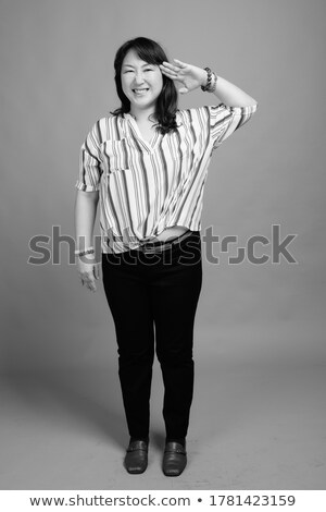 full shot portrait studio of a respectable woman Stock photo © Giulio_Fornasar