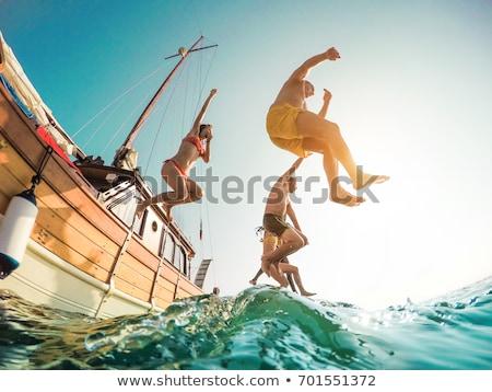 Nő nyári vakáció snorkeling óceán trópusi víz Stock fotó © Kzenon