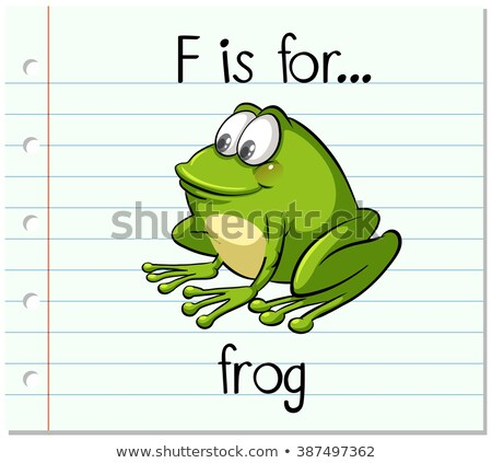 Flashcard letter F is for frog Stock photo © bluering