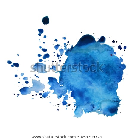bright blue ink paint stain vector Stock photo © SArts