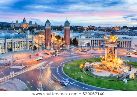 Barcelona · kilátás · múzeum · művészet · Spanyolország · égbolt - stock fotó © frimufilms